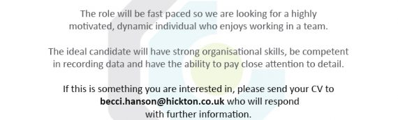 Join our Barnsley team as our Admin Assistant