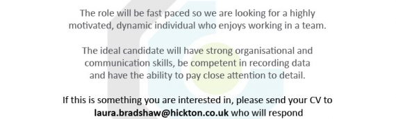 We are recruiting a Resource Administrator